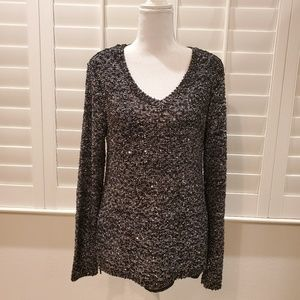Apt.9 Sweater Black and Silver
